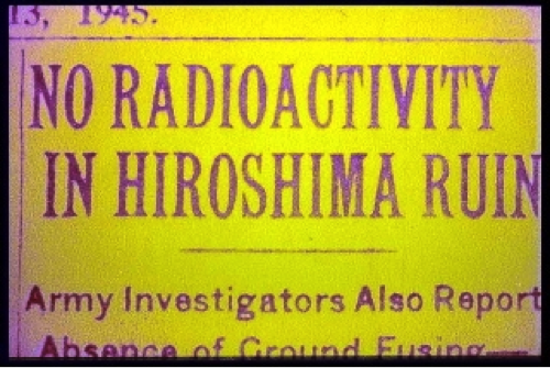 No Radioactivity in Hiroshima Ruin