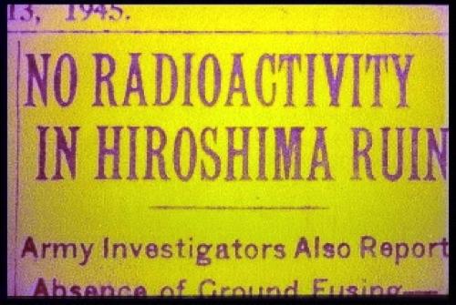 No Radioactivity in Hiroshima Ruin
