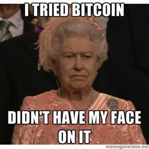 Queen of England Bitcoin Meme