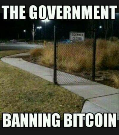 Banning Bitcoin Meme