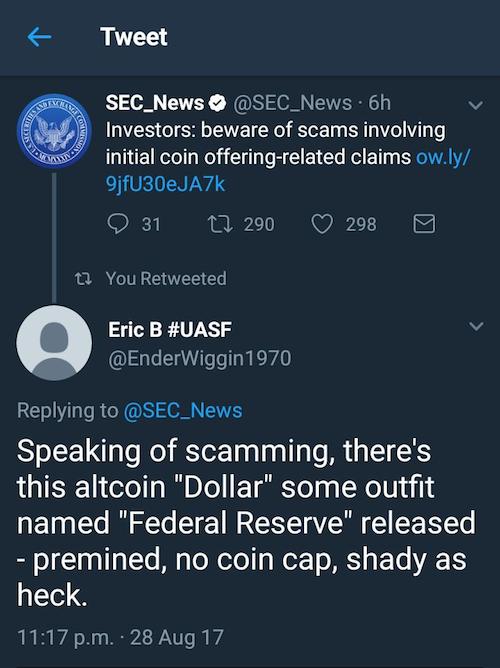 SEC Tweet