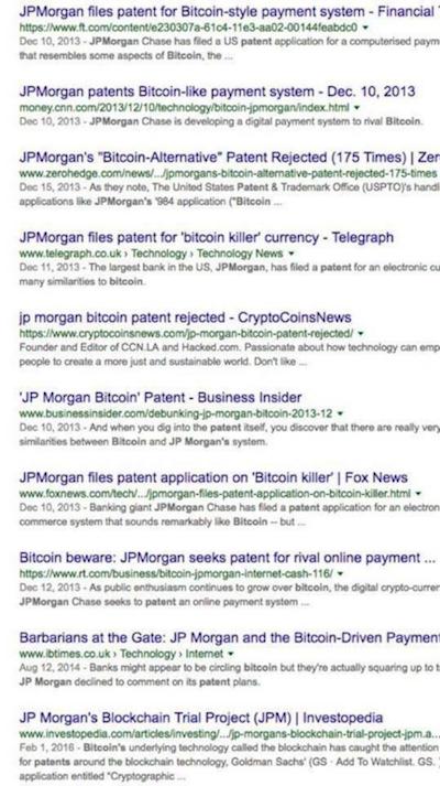 JPMorgan filing patent internet search