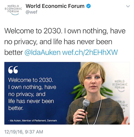 World Economic Forum Tweet