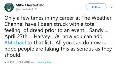 Mike Chesterfield Tweet