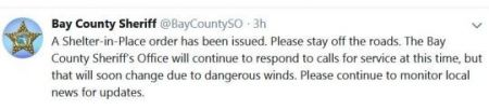 Bay County Sheriff Tweet
