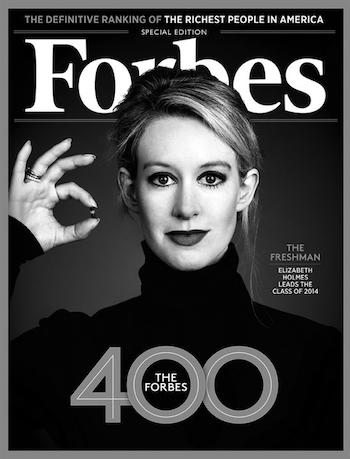 Elizabeth Holmes on Forbes Magazine