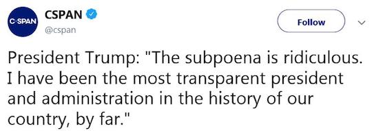 Tweet from Trump