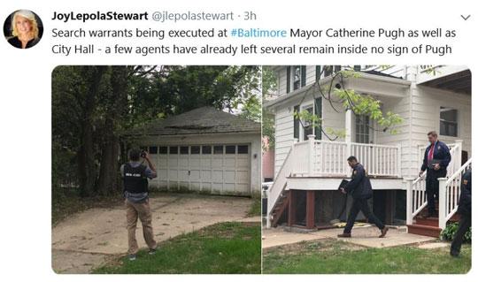 Police at Mayor Pugh's home