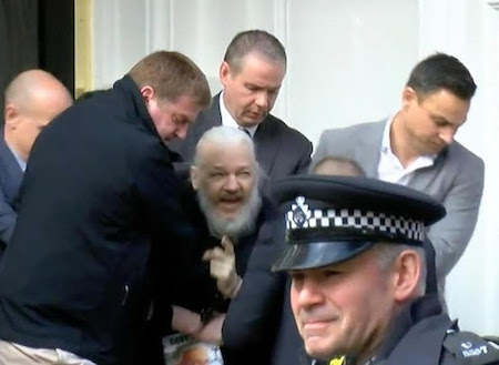 Assange being arrested