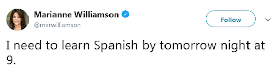 Marianne Williamson tweet
