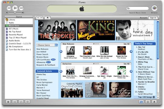iTunes screen shot