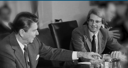 George Gilder and Reagan