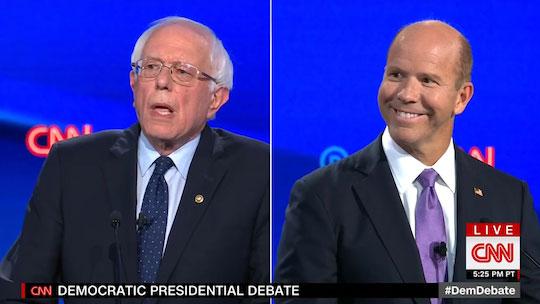 Bernie Sanders and John Delaney