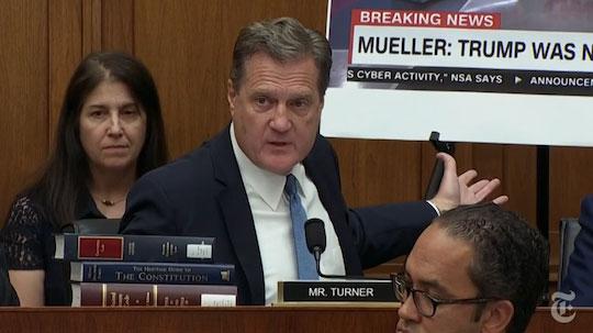 Mike Turner reading headlines