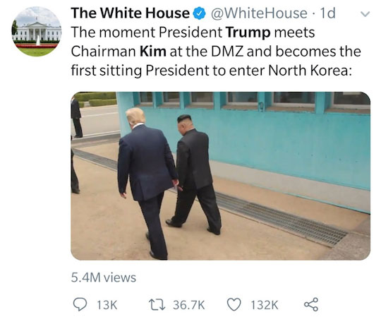 Tweet from The White House