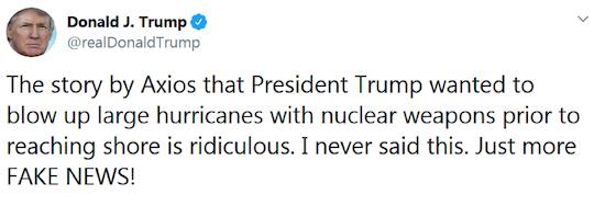 Tweet from Donald Trump