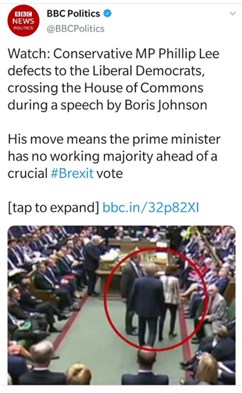 Tweet from BBC Politics