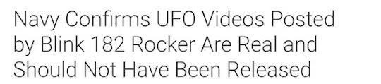 Navy Confirms UFO