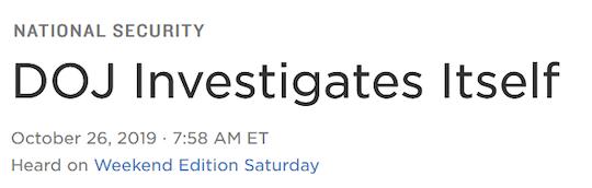 DOJ investigation
