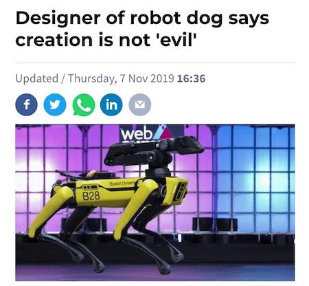 Designer of Robot Dogs