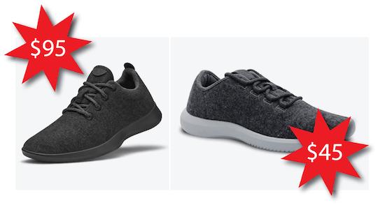 Allbirds shoes VS Amazon shoes