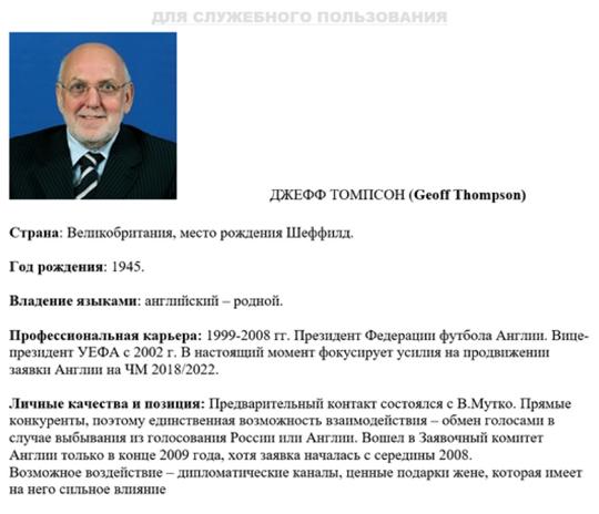 Russian man's profile