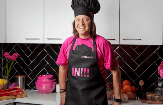 T-Mobile CEO dressed as a chef