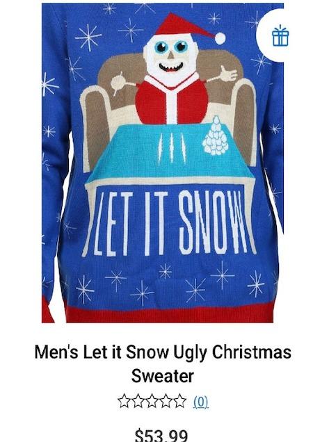 Men's let it snow sweater