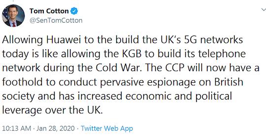 Tom Cotton tweet