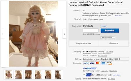 Haunted Doll Ebay
