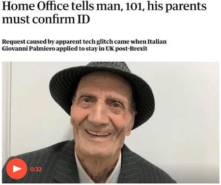 Home Office tells man
