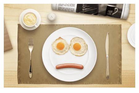 Egg eyes breakfast