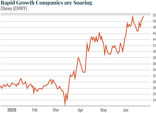 Rapid growth companies are soaring