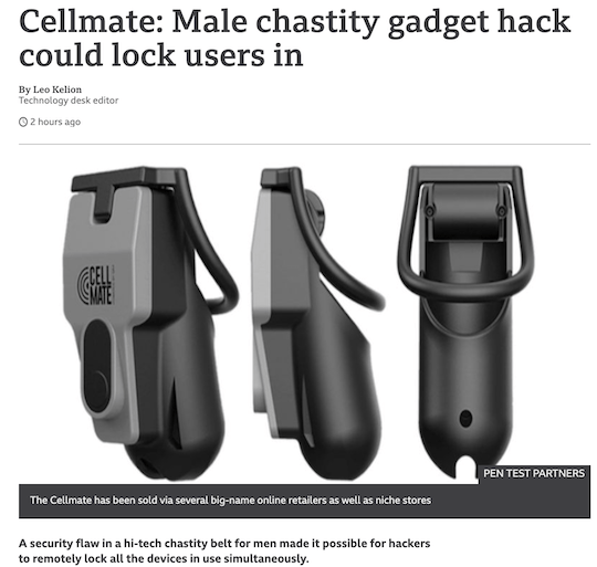 Cellmate: Male chastity gadget hack could lock users in