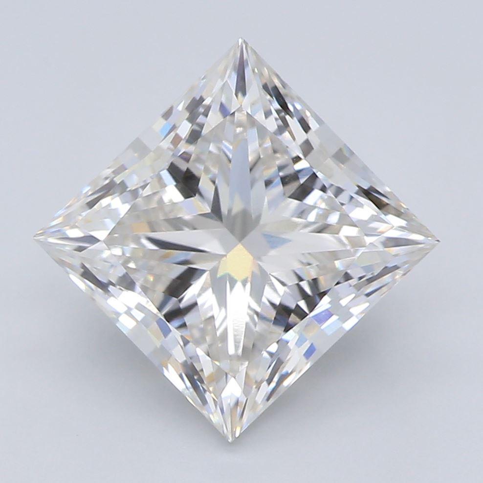 2.02-Carat Lab Created Ideally Cut Princess Diamond