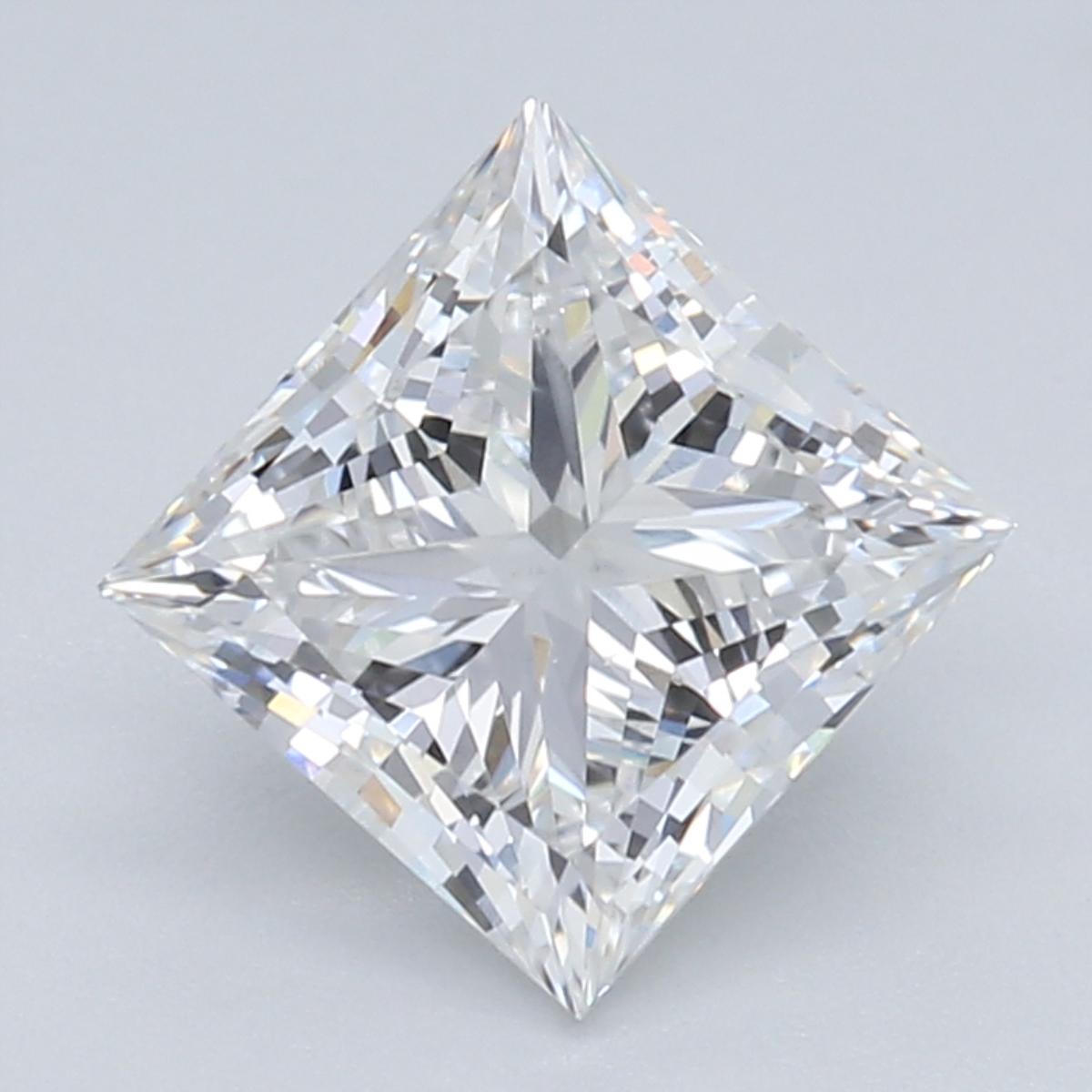 1.06-Carat Lab Created Ideally Cut Princess Diamond