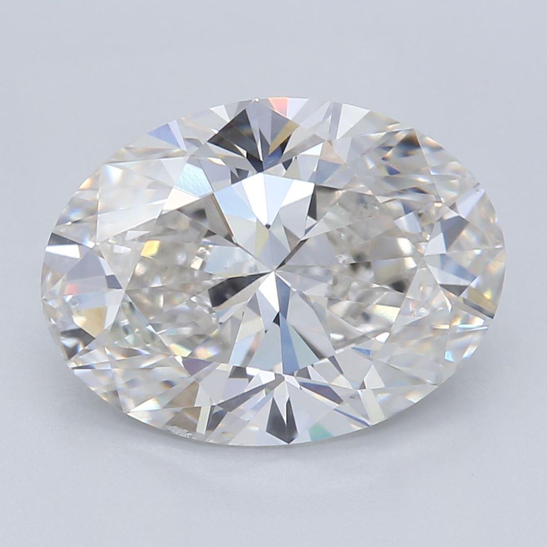 2.07-Carat Lab Created Ideally Cut Oval Diamond