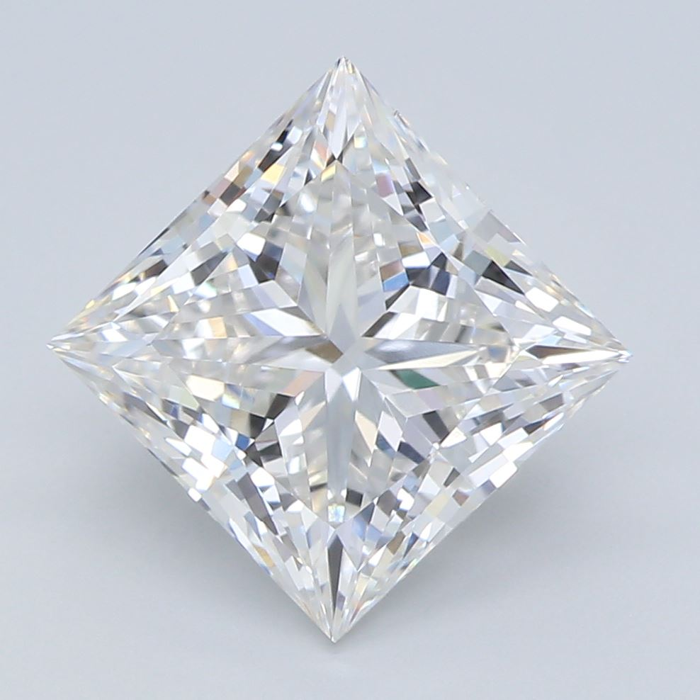 2.01-Carat Lab Created Ideally Cut Princess Diamond