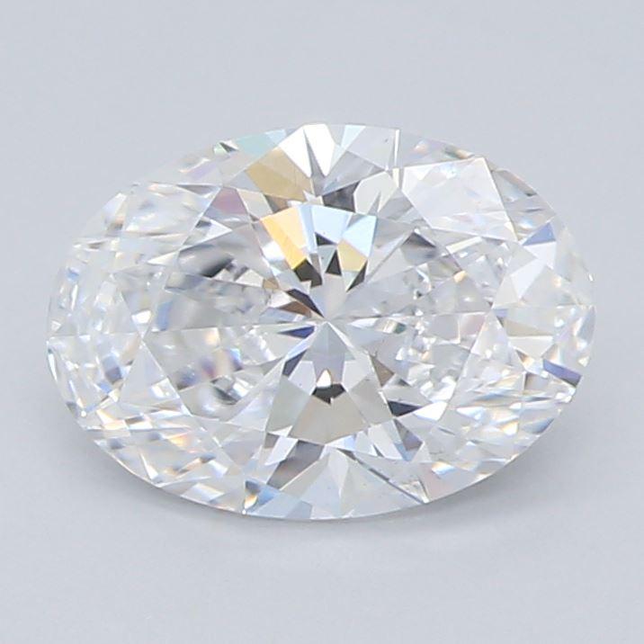 0.72-Carat Lab Created Ideally Cut Oval Diamond