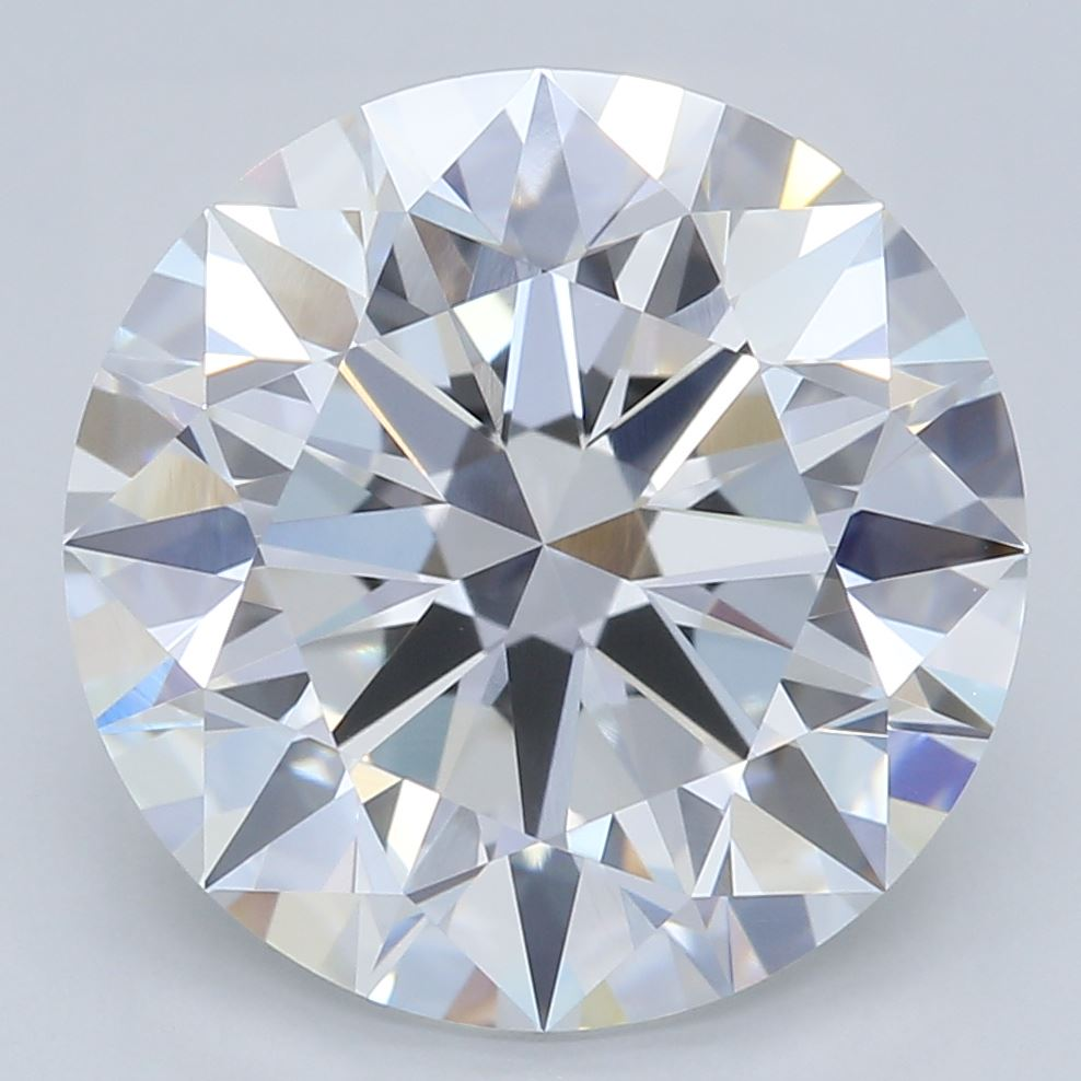 3.26-Carat Lab Created Ideally Cut Round Diamond
