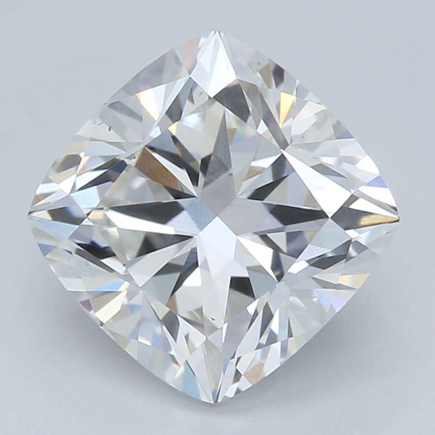 1.55-Carat Lab Created Ideally Cut Cushion Diamond
