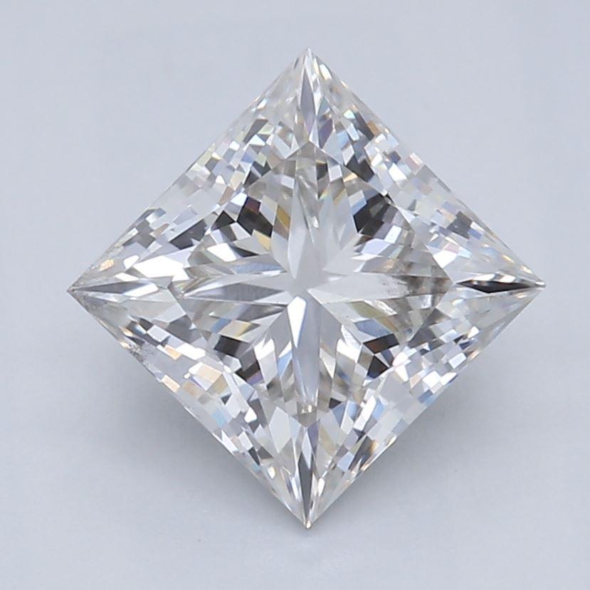 0.91-Carat Lab Created Ideally Cut Princess Diamond