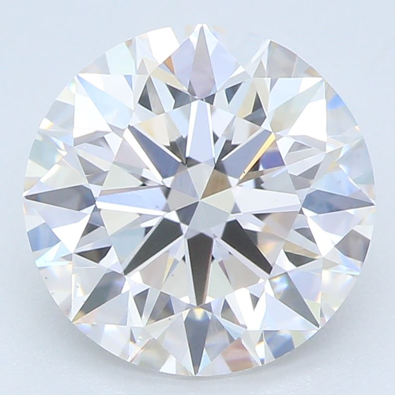 2.01-Carat Lab Created Ideally Cut Round Diamond