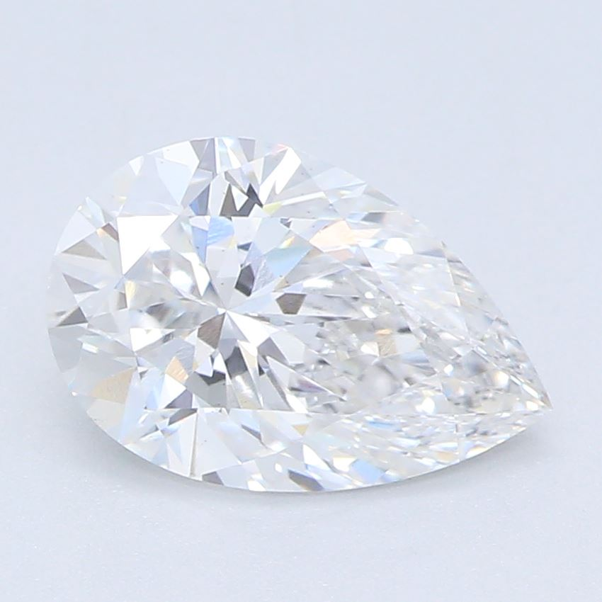 0.92-Carat Lab Created Ideally Cut Pear Diamond