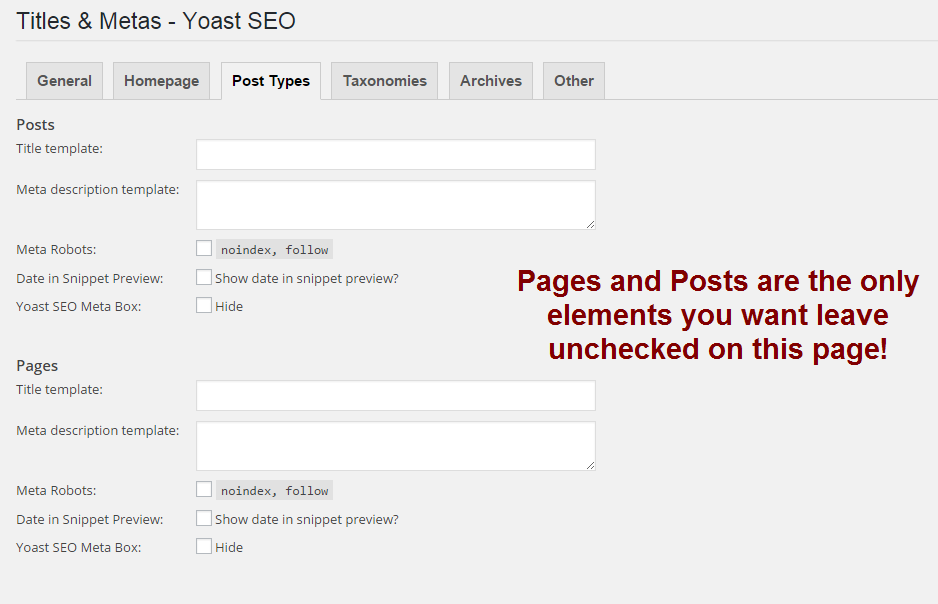 optimisinmg pages and posts in WordPress