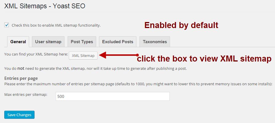XML sitemap optimisation