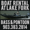 The Boat Rental at Lake Fork