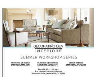 Free Interior Design Workshop - Cedar Creek Lake