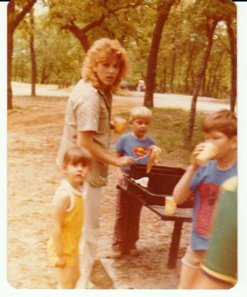 1979 Self and kids camping