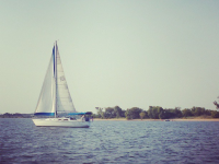 Sailboat on Lake Texoma